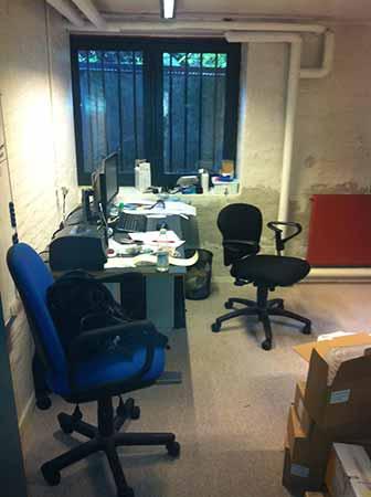 Peter Muncks første kontor i forældrenes kælder, hvor han startede sin virksomhed i 2010.